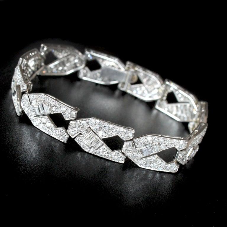 Art Deco Diamond Bracelet, circa 1930s For Sale 3