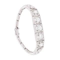 Art Deco Diamond Bracelet, circa 1920s