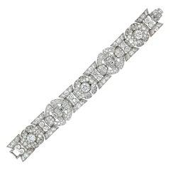 Art Deco Diamond Bracelet, circa 1940s