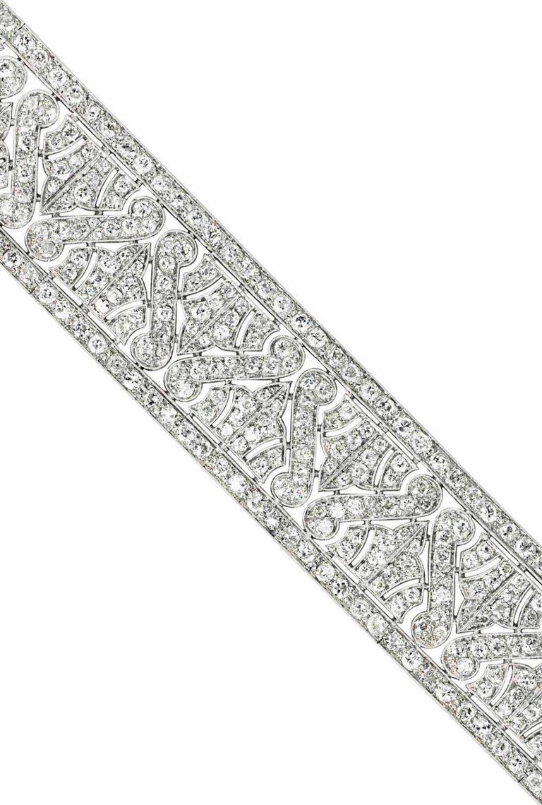 Art Deco Diamond Bracelet In Excellent Condition For Sale In New York, NY