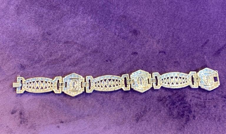 Women's Art Deco Diamond Bracelet For Sale