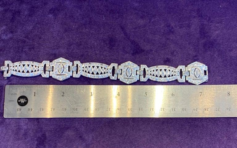 Art Deco Diamond Bracelet For Sale 1