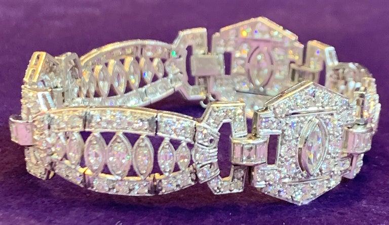 Art Deco Diamond Bracelet For Sale 3