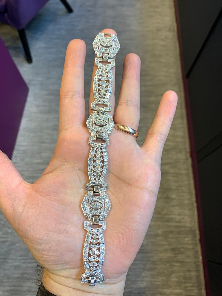 Art Deco Diamond Bracelet For Sale 4