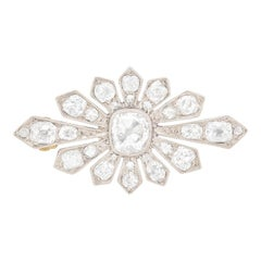 Art Deco Diamond Brooch, circa 1920s