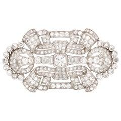 Art Deco Diamond Brooch, France, 1930s