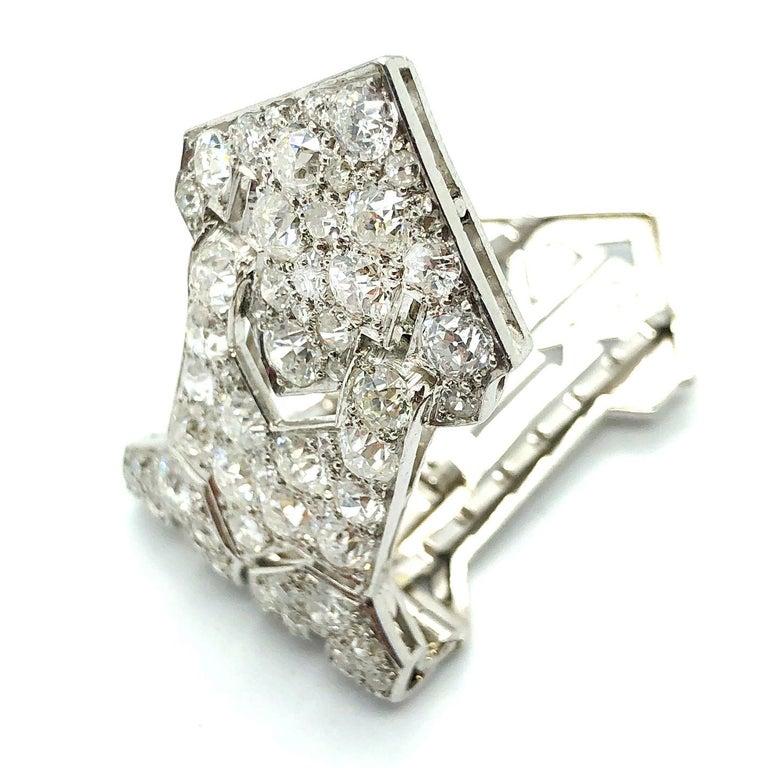 Old European Cut Art Deco Diamond Clip, 1920s For Sale