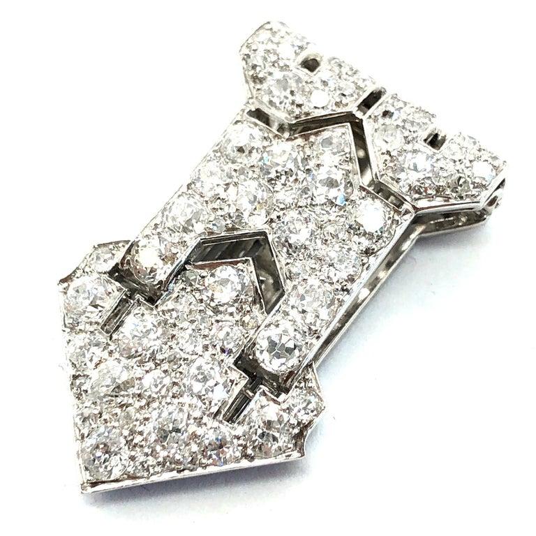 Art Deco Diamond Clip, 1920s In Excellent Condition For Sale In Idar-Oberstein, DE