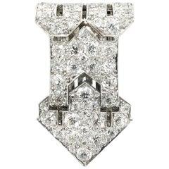 Art Deco Diamond Clip, 1920s
