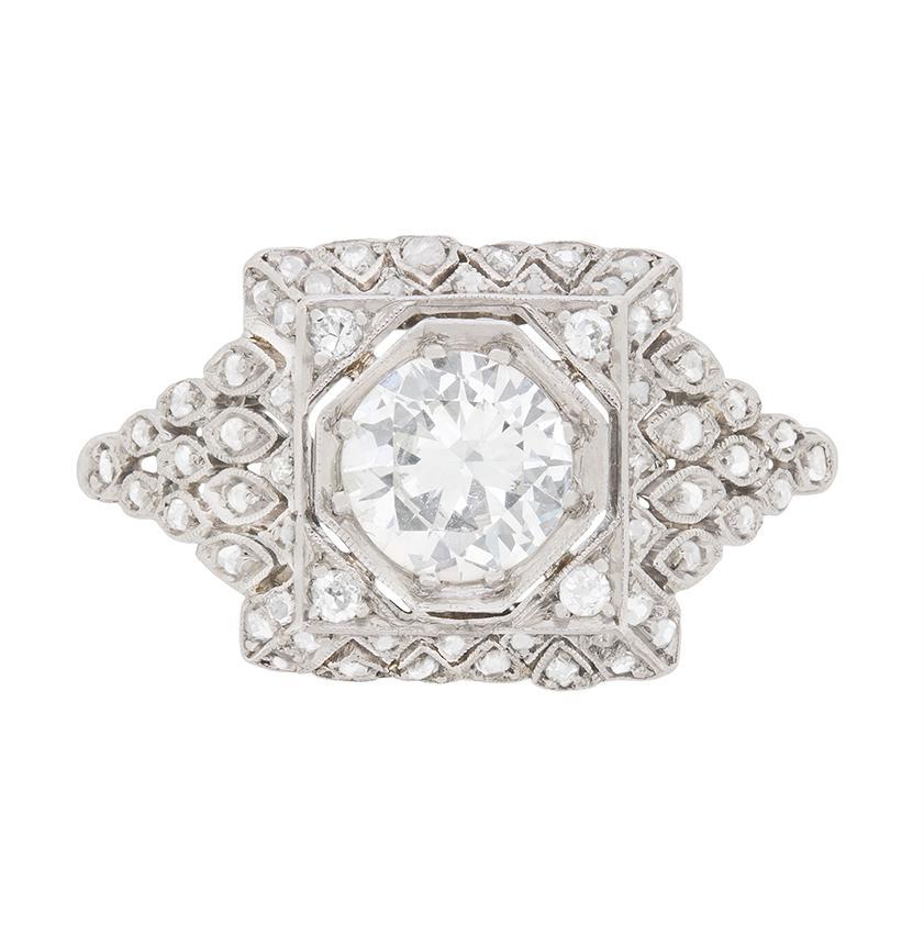 Art Deco Diamond Cluster Ring, circa 1930s