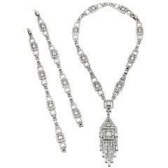 Janesich Art Deco Diamond Convertible Sautoir Necklace, Paris, circa 1930
