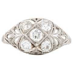 Art Deco Diamond Dome Ring