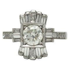 Art Deco Diamond Engagement Ring Old European Vintage Antique 1920s Heirloom
