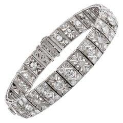 "Art Deco Diamond Filigree Bracelet, Signed ""J.E. Caldwell"""