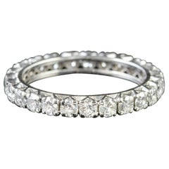 Art Deco Diamond Full Eternity Ring Platinum 1.70 Carat of Diamond, circa 1930