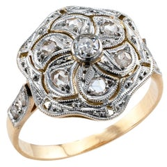 Art Deco Diamond Gold Platinum Ring
