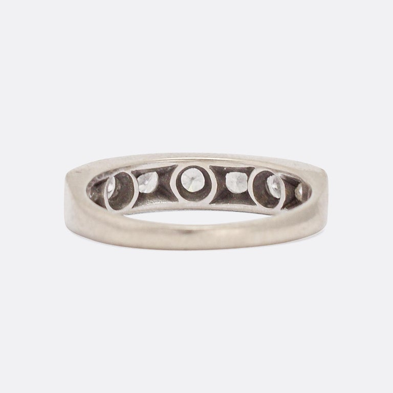 Art Deco Diamond Half Eternity Ring In Good Condition For Sale In Sale, Cheshire