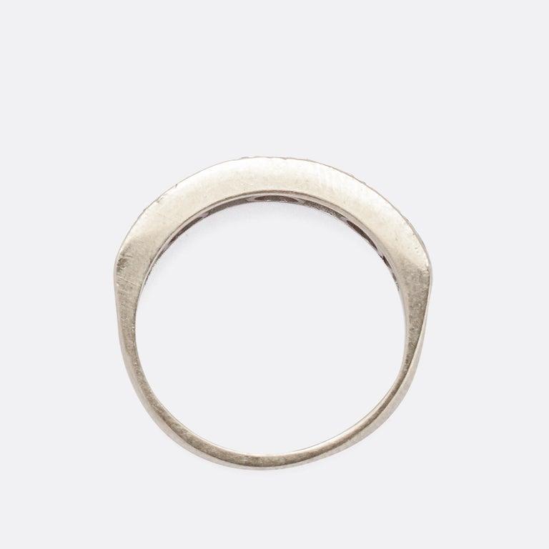 Women's Art Deco Diamond Half Eternity Ring For Sale