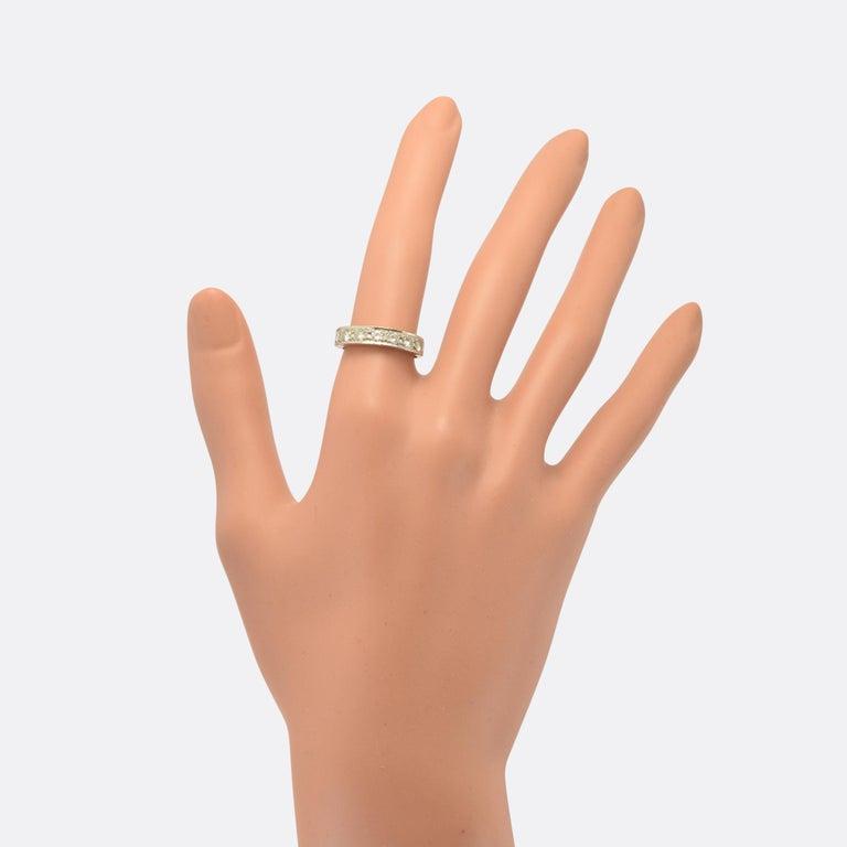 Art Deco Diamond Half Eternity Ring For Sale 1
