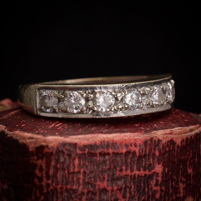 Art Deco Diamond Half Eternity Ring For Sale 2