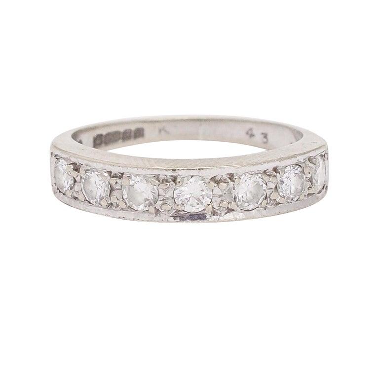 Art Deco Diamond Half Eternity Ring For Sale