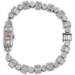 Art Deco Diamond Ladies Wristwatch