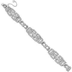 Art Deco Diamond Link Bracelet '19.42 Carat'