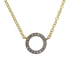 Art Deco Diamond Millegrain Halo Necklace