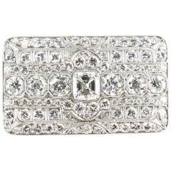 Art Deco Diamond Pin/Pendant Set in Platinum