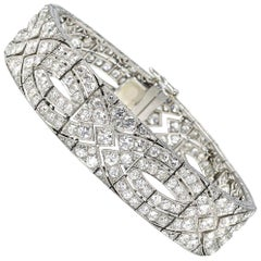 Art Deco Diamond Plaque Bracelet