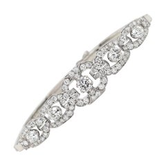 Art Deco Diamond Platinum and 18 Carat White Gold Bracelet, circa 1920s