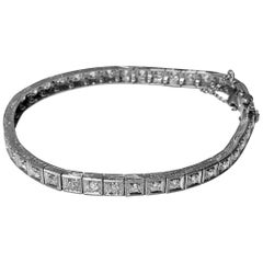 Art Deco Diamond Platinum Bracelet, circa 1920