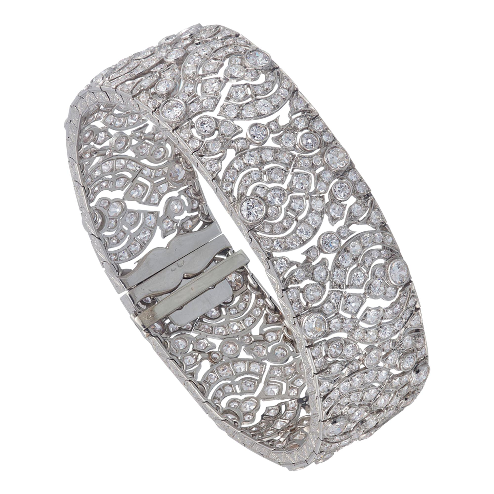Art Deco Diamond Platinum Bracelet
