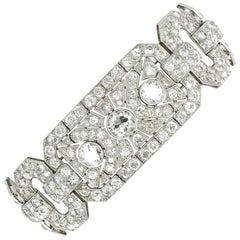 Impressive Art Deco Diamond Platinum Bracelet