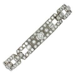 Art Deco Diamond Platinum Bracelet