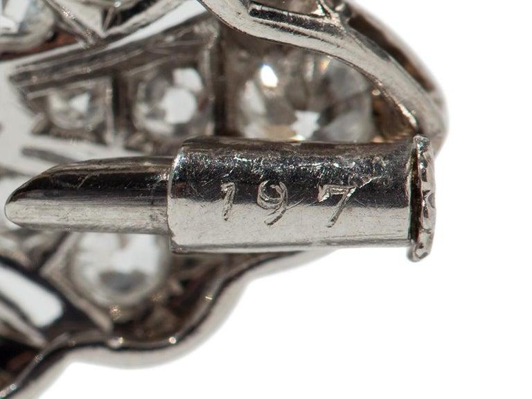 Art Deco Diamond Platinum Brooch For Sale 1