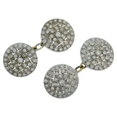 Art Deco Diamond Platinum Cufflinks