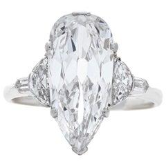 Neil Lane Couture Art Deco Diamond, Platinum Engagement Ring