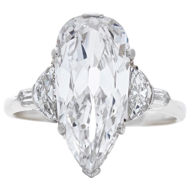 Art Deco diamond and platinum ring, 1920s