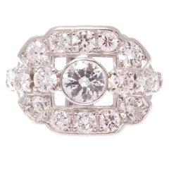 Art Deco Diamond Platinum Gold Ring