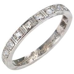 Art Deco Diamond Platinum Half Eternity Ring