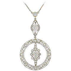 Art Deco Diamond Platinum Necklace