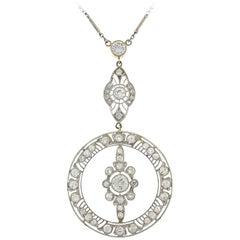 Art Deco Diamond Platinum Necklace