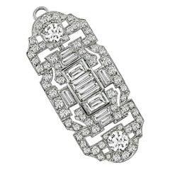 Art Deco Diamond Platinum Pin/Pendant