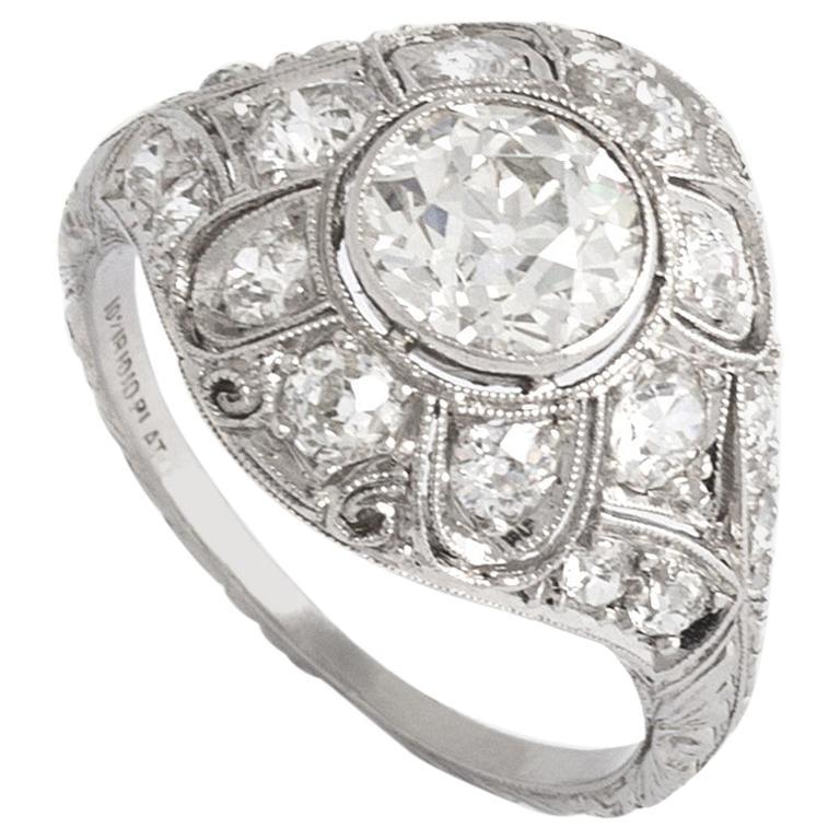 Art Deco Diamond Platinum Ring