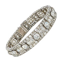 Art Deco Diamond Platinum White Gold Bracelet