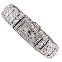 Art Deco Diamond Platinum Wristwatch