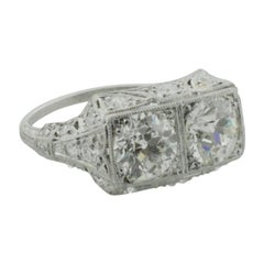 Art Deco Diamond Ring with GIA Certification