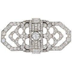 Art Deco Diamond Set Brooch