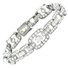 Art Deco Diamond Set Platinum Bracelet